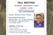 Official Call to the Fall Meeting of the Metropolitan Association, New York Conference, UCC, SATURDAY, NOVEMBER 13, 2021